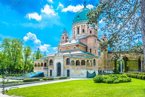 Foto op Canvas Begraafplaats Mirogoj cemetery Zagreb./ Main cemetery in Republic of Croatia, Zagreb, capital town.