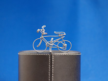 Hand Made Bicycle Wire On Podium