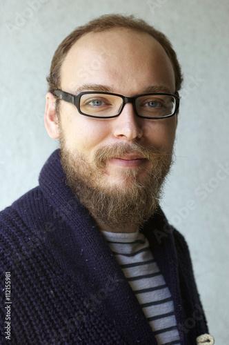 Fotografia, Obraz  Bearded Bespectacled Man
