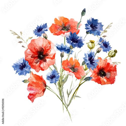 Fototapeta Wild flower bouquet obraz na płótnie