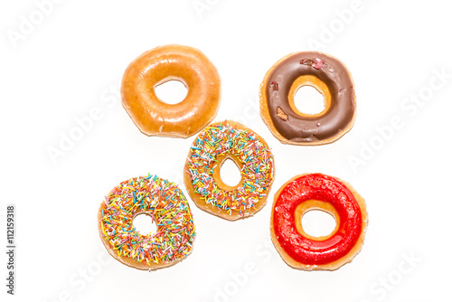 Photo  Doughnuts collection isolated on white background