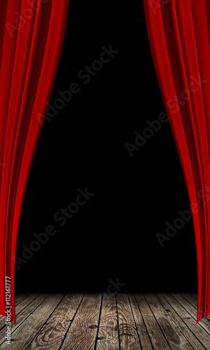 Stampa su Tela  red curtain background