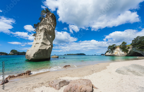 Stickers pour portes Cathedral Cove Coromandel