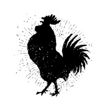 Rooster Label. Vintage Style C...