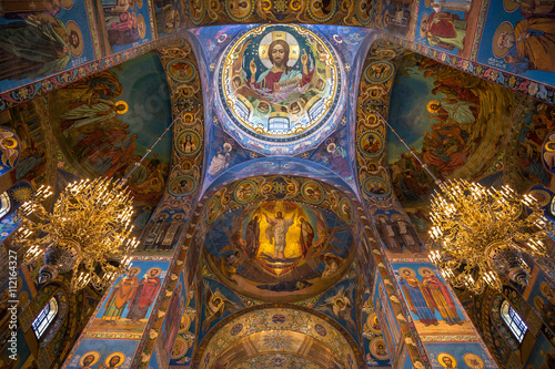 Fotografie, Obraz  Interior of the Church of the Savior on Spilled Blood in Saint Petersburg, Russi
