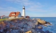 The Portland Head Light In Cape Elizabeth, Maine