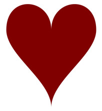 Simple Maroon-red Heart