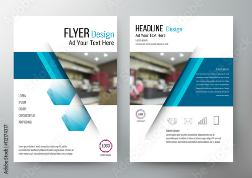 Fotografie, Obraz  Flyer design Layout Template Vector Brochure. For annual report