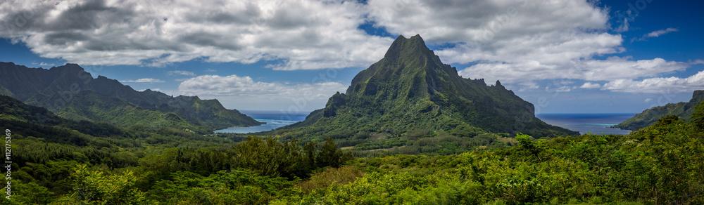 Fototapeta tahiti mountains