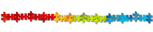 Puzzle Band Banner Reihe Regenbogen