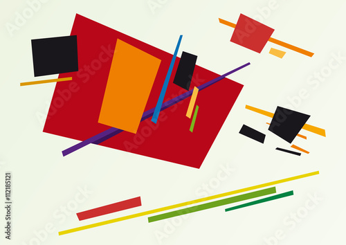 abstract geometric colorful vector background - 112185121