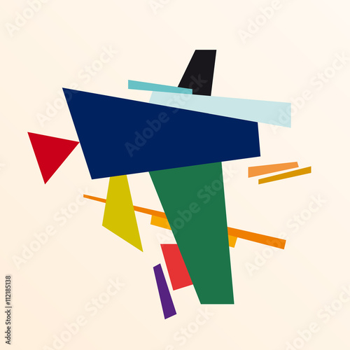 Photo  abstract geometric colorful vector background