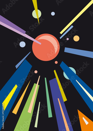 abstract geometric colorful vector background - 112185152