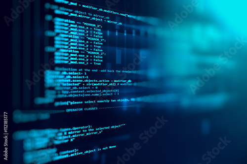 Fotografía  Programming code abstract technology background of software deve