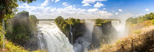Foto auf AluDibond Wasserfalle Victoria Falls Africa Panorama