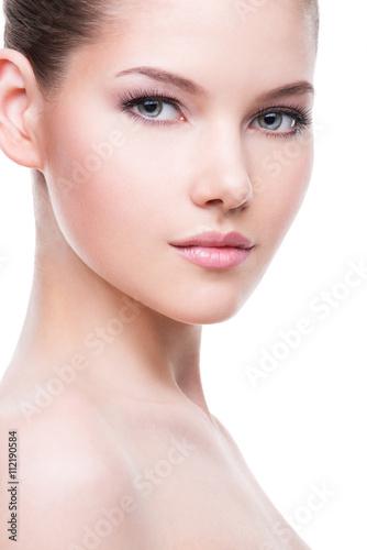 Fotografie, Tablou Beautiful face of young woman.