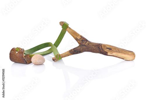 Valokuva  Wooden slingshot isolated on white background