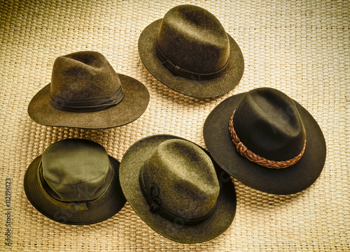 Foto op Canvas Jacht assorted hunting hats