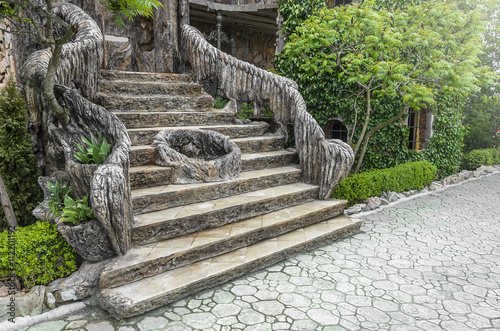 Old stair in the garden.