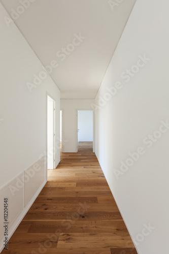 Fotografie, Tablou  long corridor with parquet floor