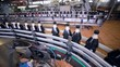 Conveyor for the production of carbonated fresh drink. HD.