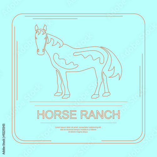 Fotografia, Obraz  339_Logotype of horse ranch