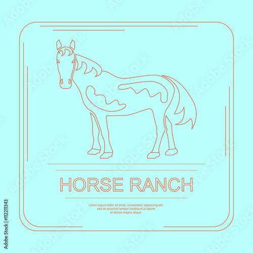Fotografie, Obraz  339_Logotype of horse ranch