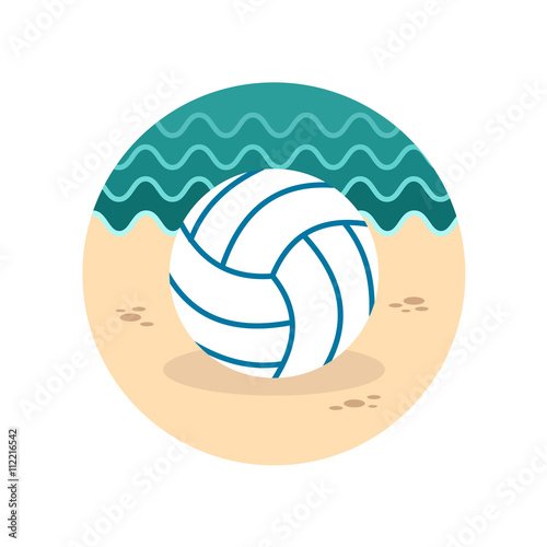 Volleyball icon. Summer. Vacation Canvas Print