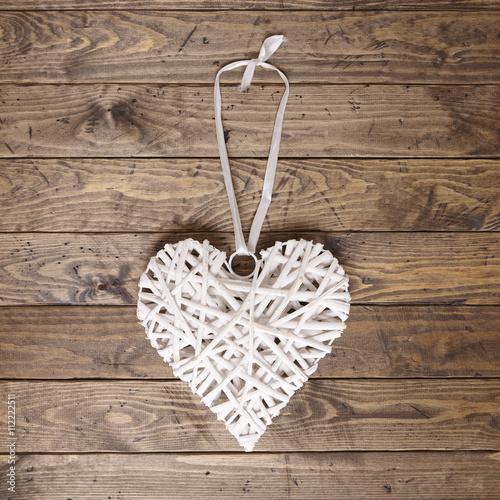 Foto-Plissee - Wicker heart (von beckystarsmore)