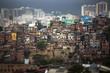Rio de Janeiro downtown and favela.
