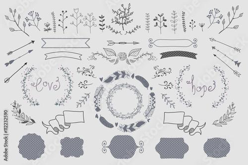 Fotografie, Obraz  Hand Drawn Vector Design Elements