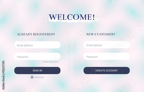 Login and registration form strict clean style flat design ui login and registration form strict clean style flat design ui elements for your colourmoves