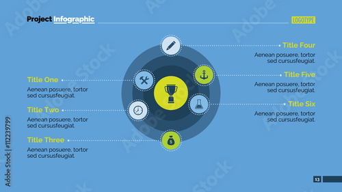 Concentric Circles Diagram Slide Template Buy This Stock Vector