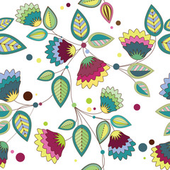 Fototapetapattern of colorful flowers