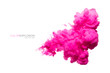 canvas print picture - Pink Acrylic Ink in Water. Color Explosion