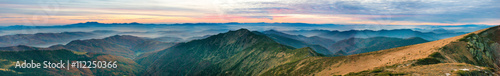Foto op Plexiglas Landschappen Mountain landscape at sunset