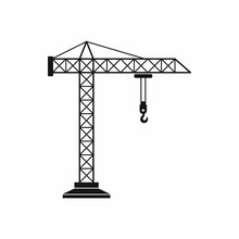 Construction Crane Icon, Simpl...