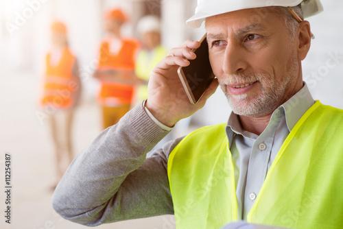 Fotografie, Tablou  Business team. Building project