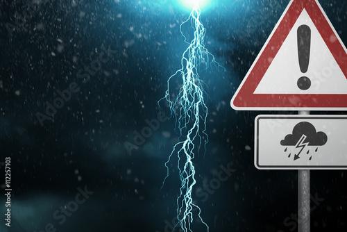 Zdjęcie XXL Uwaga - burza z piorunami
