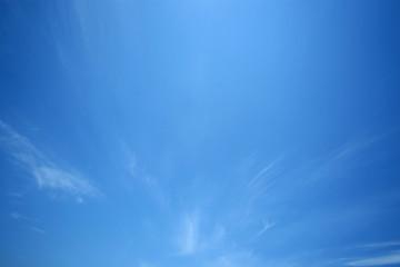 青空と雲|巻雲|青空のみ 背景用素材 バックグラウンド