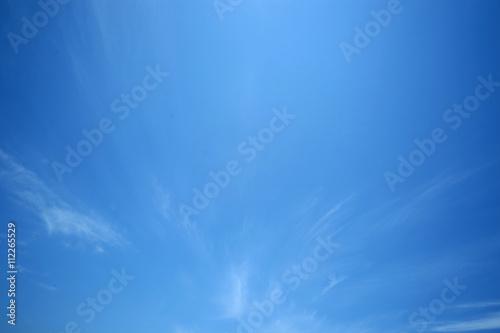 Photo 青空と雲|巻雲|青空のみ 背景用素材 バックグラウンド