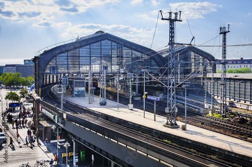 Foto auf AluDibond Bahnhof BERLIN, GERMANY, May 10 2016, Train station Friedrichstrasse