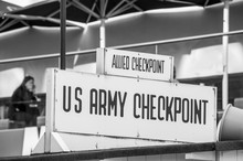 BERLIN, GERMANY, May 10 2016, Checkpoint Sign