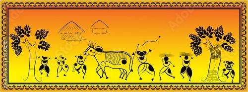 Fotografie, Obraz  Tribal Indian Art