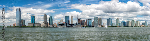 Poster Taupe new jersey landscape from manhattan new york city