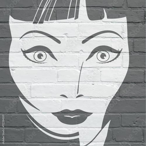 Photo Art urbain, visage de femme