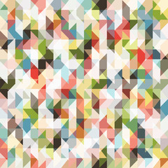 FototapetaPixel seamless pattern of colored triangles