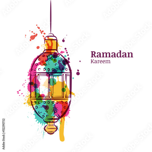 Ramadan greeting card with traditional watercolor lantern ramadan ramadan greeting card with traditional watercolor lantern ramadan kareem watercolor background design concept for m4hsunfo