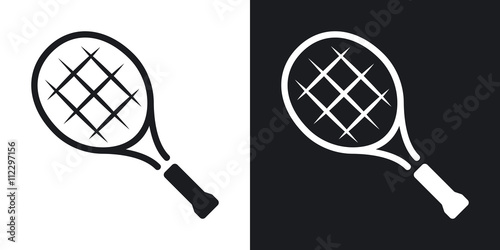 Photo Vector tennis racket icon