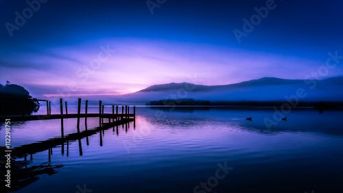 Foto auf Gartenposter See / Weiher Early morning on Derwentwater, The Lake District, Cumbria, England